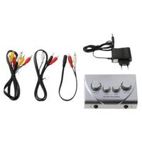 Mini Mixer KARAOKE System Audio Process Stereo Pre Amplifier Microphone EU