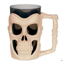 Halloween 3D Skull Skull Mug Coffe Tea Beer Water Bottle Tea Milk Wine Drinking Cup Bar Decor Sugar Storage Cup Home Decor