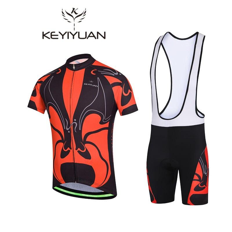 2018 KEYIYUAN Big Face cyclisme Jersey hommes vélo vêtements de vélo vêtements de vélo chemises en plein air à manches courtes nouveau court vtt