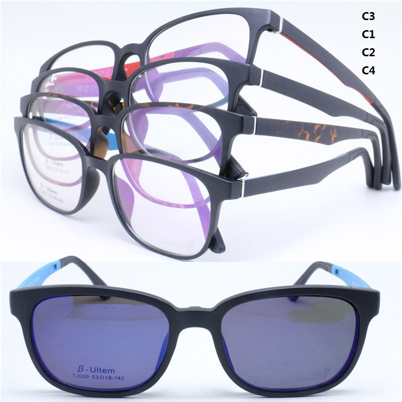 ab4b5ad1023 Wholesale TJ009 ULTEM full rim with megnatic clip on removable polarized  sunglasses lens square optical frames free shipping-in Eyewear Frames from  Apparel ...