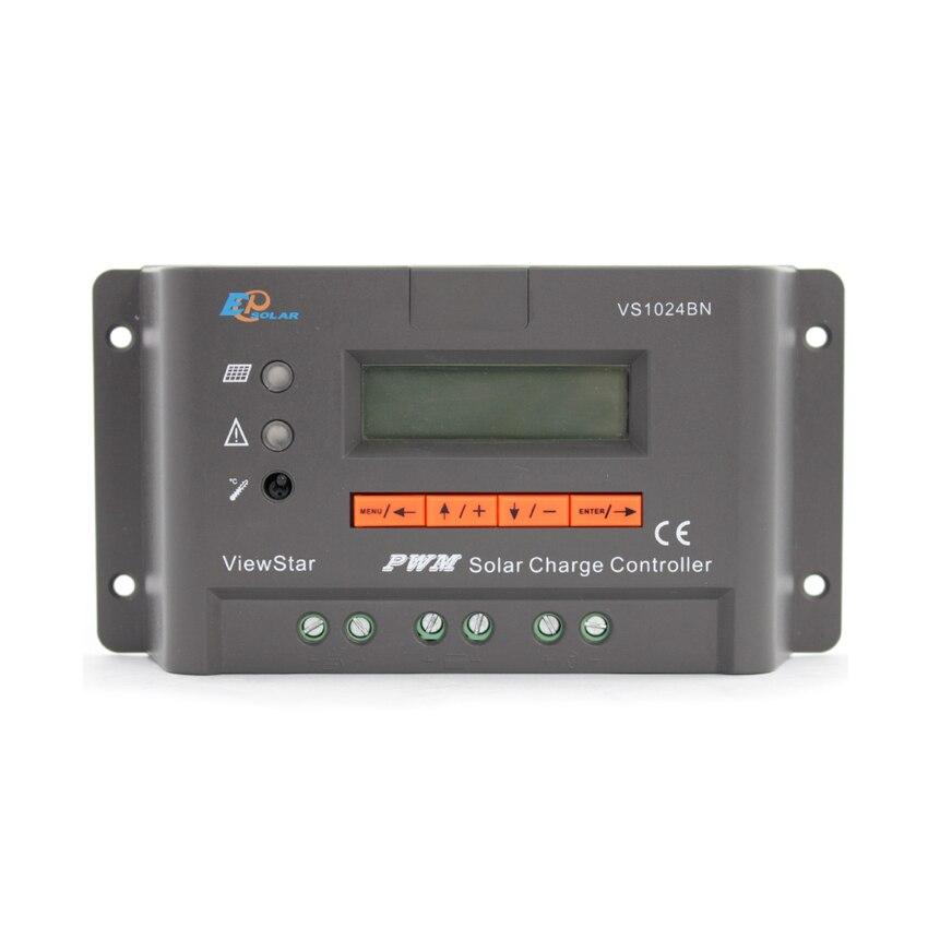 1 pc x 10A ver estrella VS1024BN Auto de 12 V 24 V EP Solar PWM sistema Kit de controlador de pantalla LCD