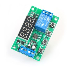 DC 5V 12V 24V 0.01s~999 mins Adjustable Time Delay Timer Relay Module Switch PCB Board With LED Display for Valve Water Pump