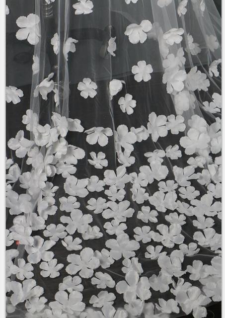 White  3 Meters Long wedding Veils
