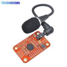 Módulo v3 do reconhecimento de voz do reconhecimento de velocidade compatível com para o apoio 80 do arduino tipos da exatidão alta da c.c. 4.4 5.5 v da voz