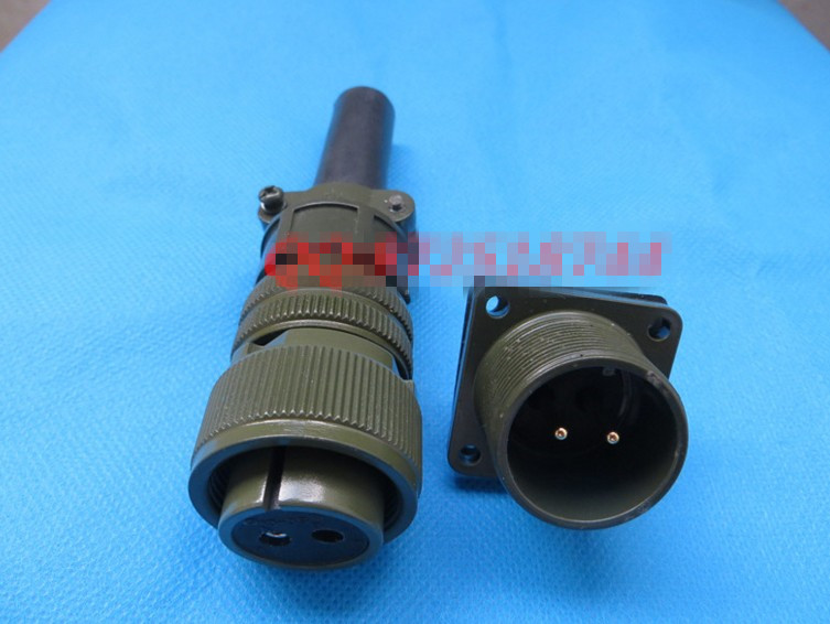 все цены на Original new 100% 5015 American Standard aviation plug straight MS3106A18-3S MS3102A18-3P 2 core waterproof connector