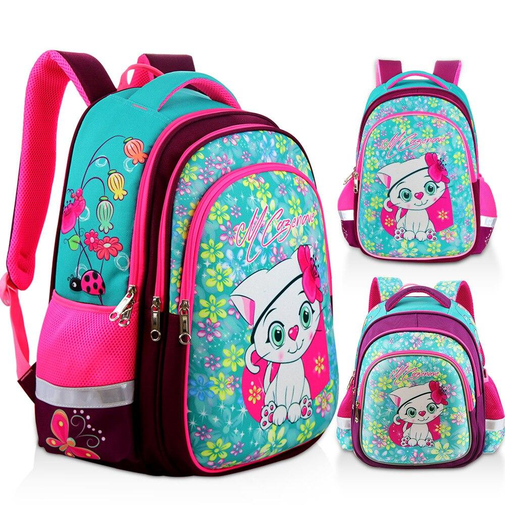 2019 Large Capacity Cartoon School Backpacks Orthopaedics Waterproof Schoolbags For Girls Grade 3-6 Children School Bags Mochila