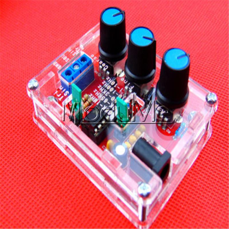 XR2206 Function Generator DIY Kit Sine Triangle Square Output 1HZ-1MHZ +Case NewXR2206 Function Generator DIY Kit Sine Triangle Square Output 1HZ-1MHZ +Case New