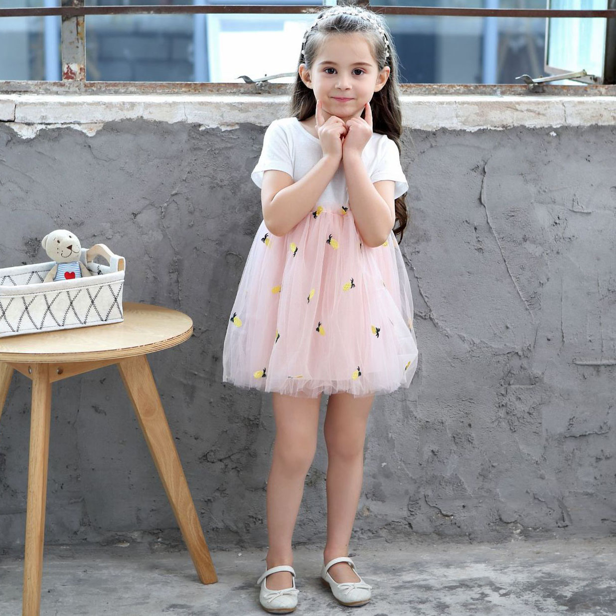 7fc8d6a7d Summer Designer Baby Toddler Clothes Mesh Chiffon Dresses for Girls ...