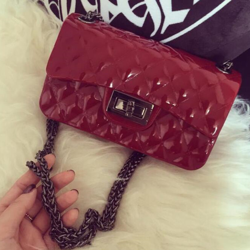2017 womens handbags and purses Lingg jelly bag small - scented beach mini - silicone chain shoulder - shoulder bag bolso hombre