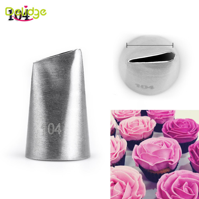 Delidge 12 Shapes Cake Nozzle Stainless Steel Icing Piping Nozzles Cream Beak Pastry Puff Cream Injector Cake Decorating Tool