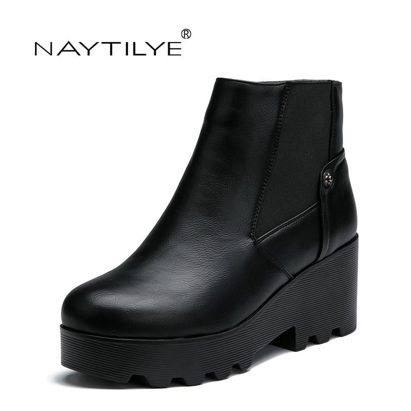 Botas Mujeres 36 Cuero Eco De Mujer Zip Naytilye 2017 Las Punta Redonda Casual Libre 41 Envío Primavera Pu Negro otoño Zapatos rfrzqwEZ