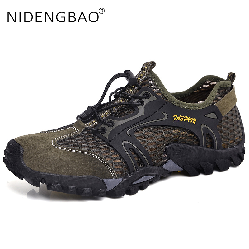 Summer Wading Shoes Men Breathable Water Sport Shoes Outdoor Non-slip Men Sneakers Big Size 39-50 Beach Shoes for Swimming