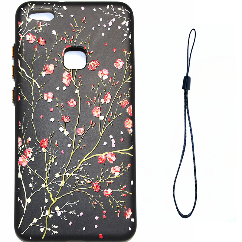3D Relief flower silicone huawei P10 lite (4)