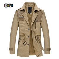 ab5fef3ed9a1c Idopy Men Winter Warm Windbreaker Casual Trench Coat For Man Overcoats And  Jackets Cotton Lined Parkas