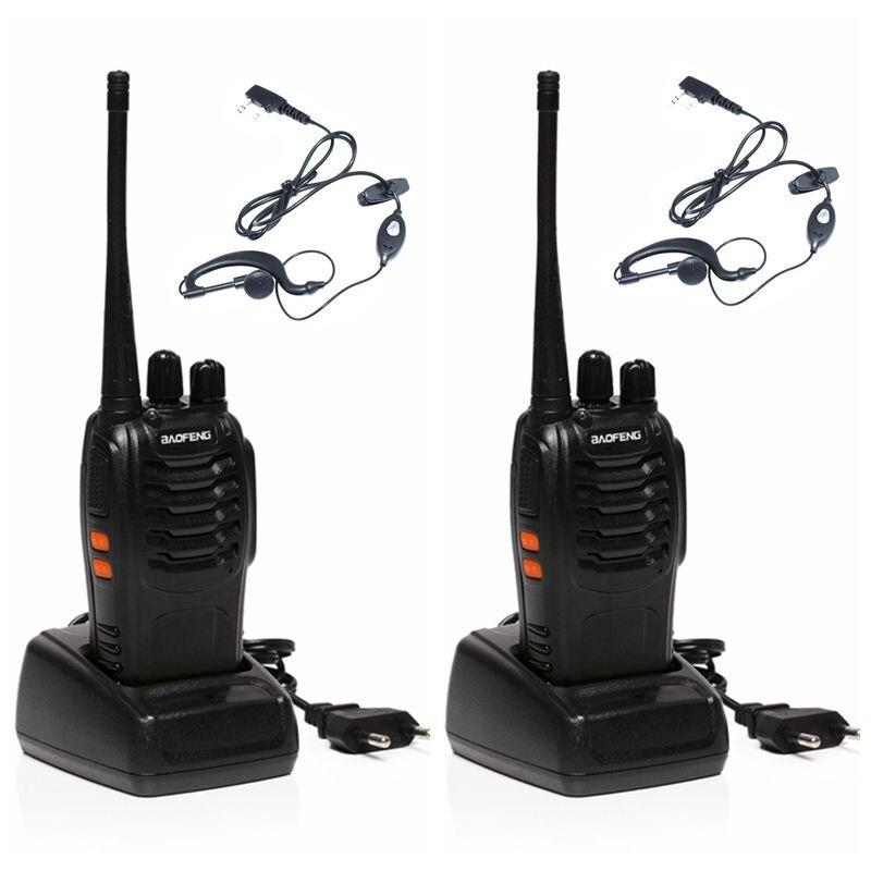 imágenes para Clásica Baofeng BF-888S Walkie Talkie Profesional BF 888 S 5 W de Potencia UHF 400-470 MHz Portátil de Dos Vías Radio PTT 2 UNIDS + Headset