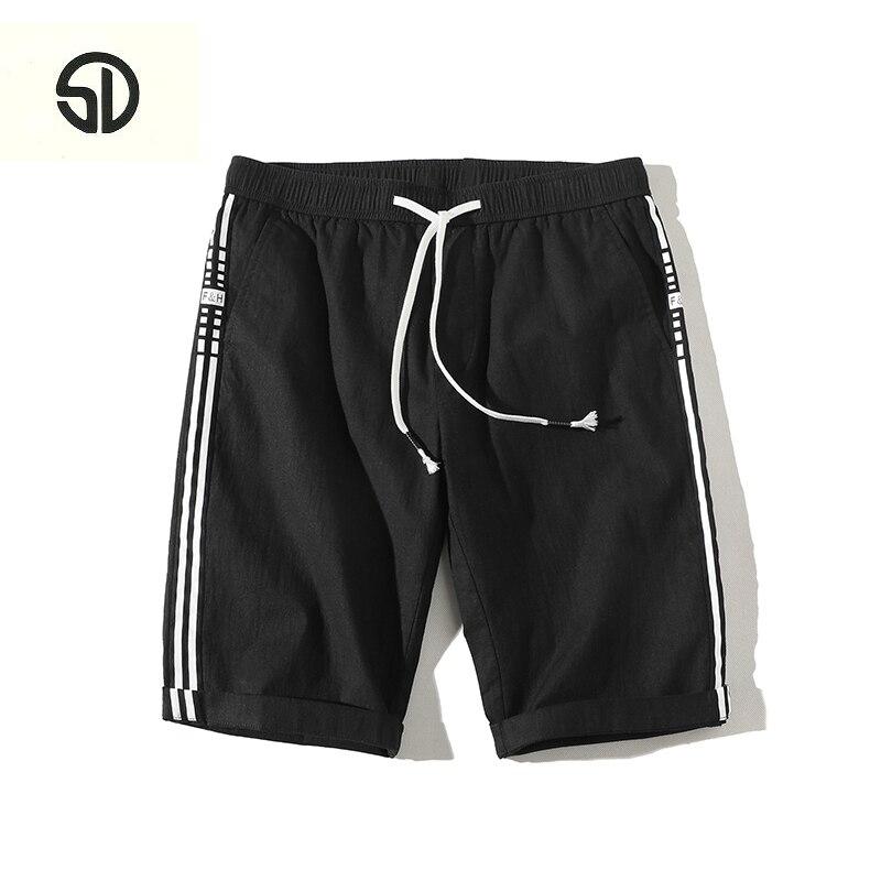 New Summer Mens Moletom Masculino Shorts Pocket Mens Shorts Elastic Waist Letter Emboridary Men Jogger Beach Shorts Men Short