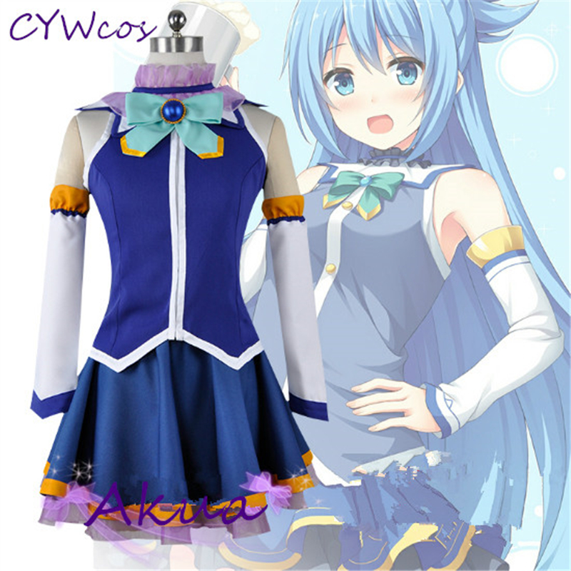 Anime KonoSuba God's Blessing on this Wonderful World Akua Cosplay Costume Women Dress Uniforms Akua Costumes