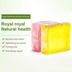 1 шт. тайское фруктовое мыло натуральный розовый бамбуковый уголь увлажняющий, увлажнение отшелушивающий для рук Очищающий туалетное мыло