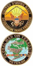 Hot sales US custom coins  low price Military Navy Challenge Coin Operation Iraqi Freedom Veteran War on Terrorism FH810223