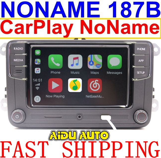 Noname Carplay RCD330 RCD330G Plus 6.5 MIB Radio For VW Golf 5 6 Jetta CC Tiguan Passat Polo Touran 187B RCD510 RCN210 5406 5314 rcd330 rcd330g plus 6 5 mib radio rcd510 rcn210 stereo for vw golf 5 6 jetta mk5 mk6 cc tiguan passat b6 b7 polo touran 187a