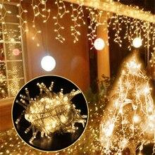 Струнный светильник 100 светодиодный 10 м Рождественский/свадебный/вечерние декоративный светильник s гирлянда AC 110 В 220 в наружный водонепроницаемый Светодиодный светильник 9 цветов
