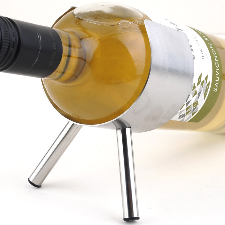 Two Feet Stainless Steel Wine Holders Cabinet Home Decorations Small Sized Gun Shape Bottles Display