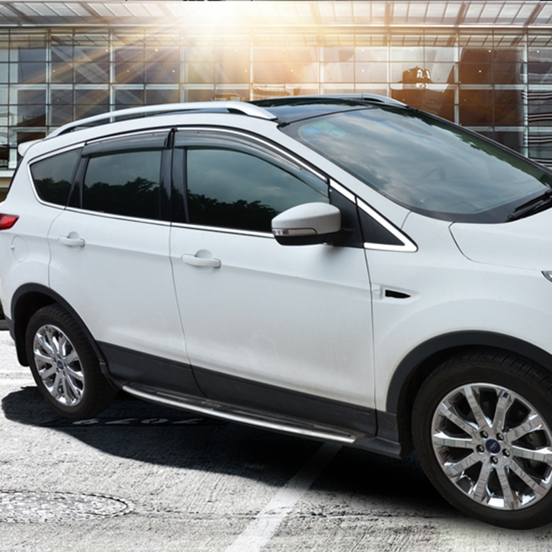 for ford escape kuga 2013 2014 2015 2016 2017 aluminium alloy carrier bar roof rack side rails bars outdoor travel luggage 4pcs