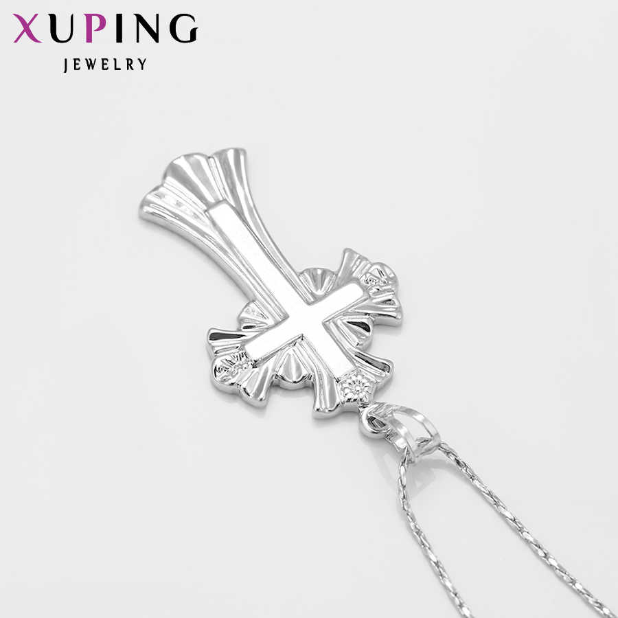Xuping Fashion Liontin Fashion Cross Bentuk Liontin Warna Plated Menawan Perhiasan Hadiah Natal S1.4 \ S31 3-31984