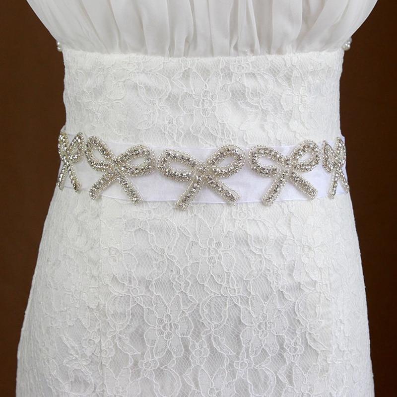85ebd9511313 Nouvelle Arrivée De Mariage Ceintures Blanc Ruban avec Sparking Cristal De  Mariée Sash Ceinture Strass Robe Sash De Bal Sash De Mariage Sash
