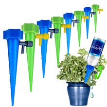 Automatic Watering Kits Garden Supplies Irrigation Adjustable Stakes Device System Houseplant Spikes Plant Potted Flower cheap Plant Watering drip irrigation tool Plastic 16X3cm Drip irrigation garden watering system riego por goteo