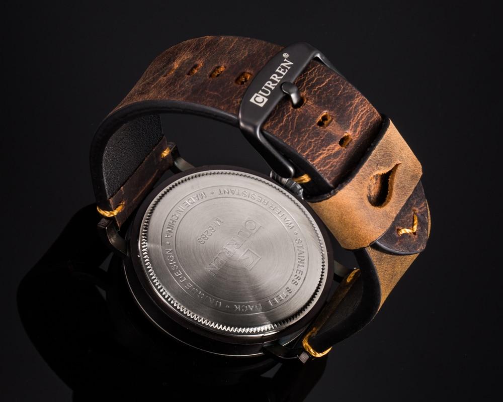 HTB1mGLjbBmWBuNkSndVq6AsApXa8 Men Watch Brand CURREN Fashion Big Digital Dial Male Wristwatch Casual Calendar Quartz Leather Clock Montre Homme Reloj Hombre