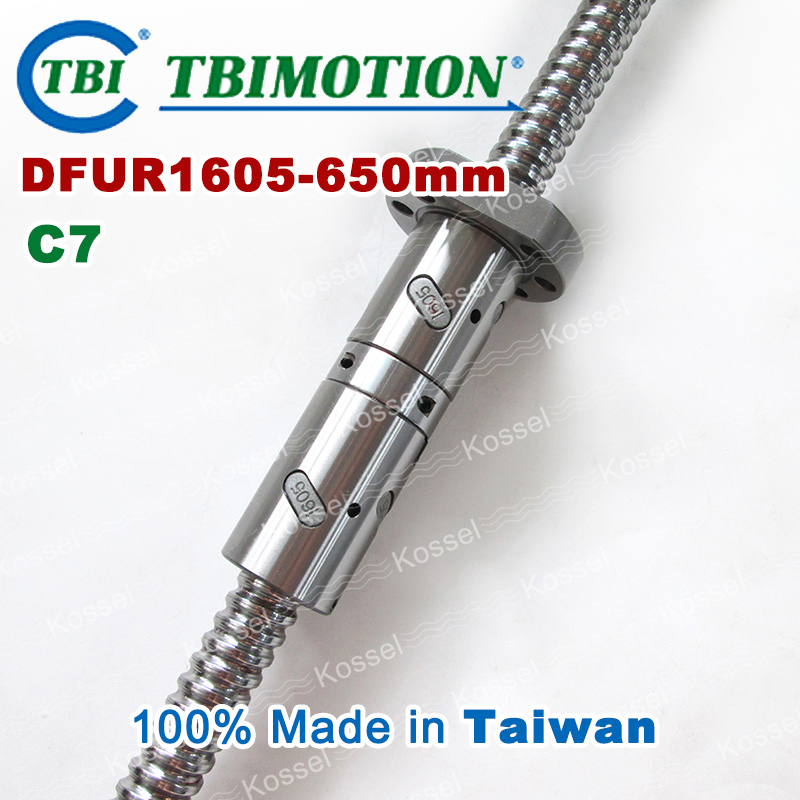 TBI 1605 C7 Rolled 650mm ball screw 5mm lead with DFU1605 ballnut + end machined for high precision CNC diy kit DFU set tbi 2510 c3 620mm ball screw 10mm lead with dfu2510 ballnut end machined for cnc diy kit dfu set