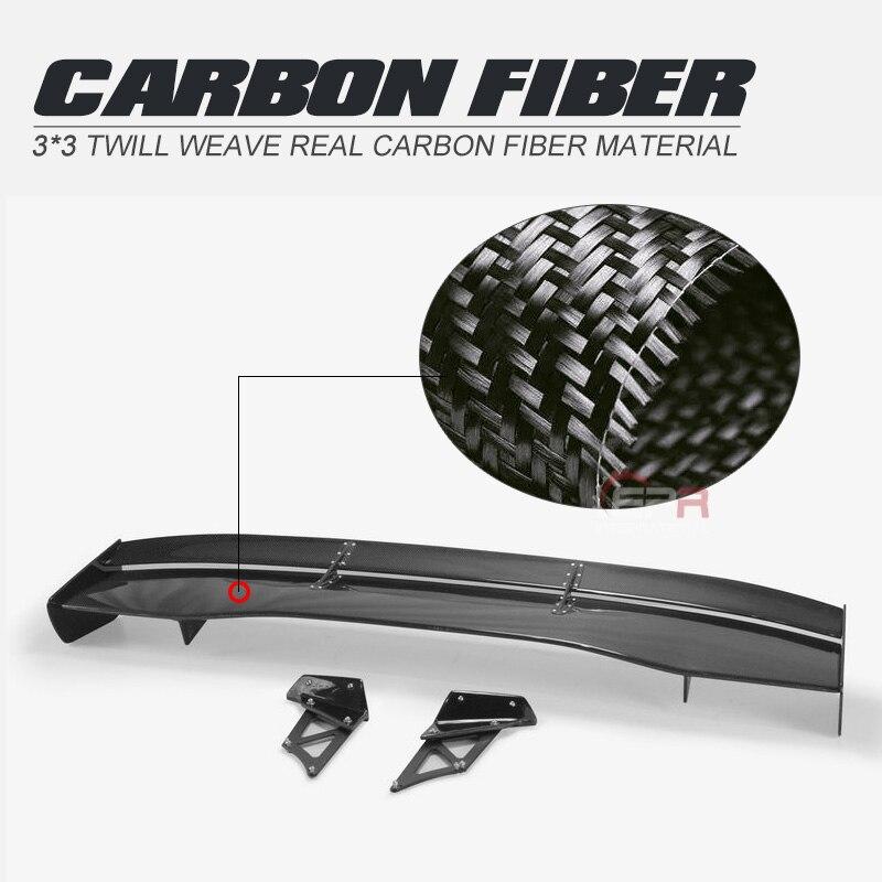 Style de voiture pour Honda Civic FK7 FK8 VTX5 Style Fibre de carbone arrière GT Spoiler Fibre aile de coffre finition brillante garniture de répartiteur de démarrage