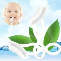 2pcs Set Silicone Toothbrush High Quality And Environmentally Safe Baby Teether Teething Ring Q15