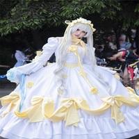 Anime Cosplay Costume GOSICK Victorique De Blois Wedding Dress Woman Dress Ball Dress Z