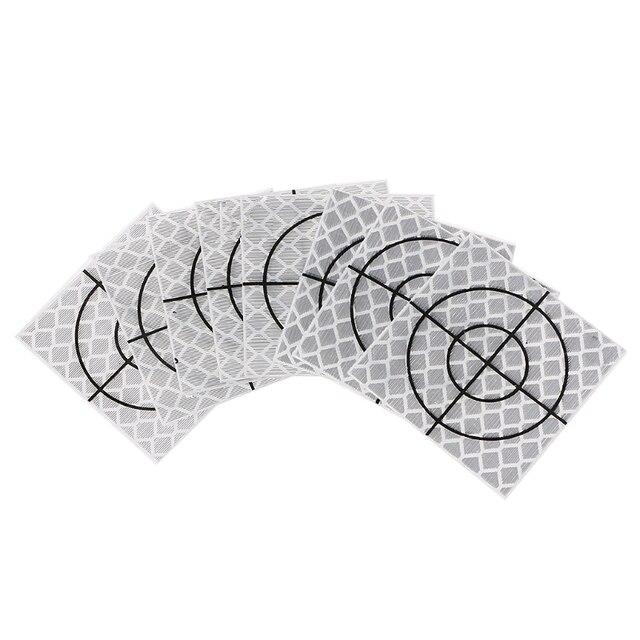 100 pièces réflecteur feuille bande réfléchissante cible Station totale 20/30/40/50/60mm #0616
