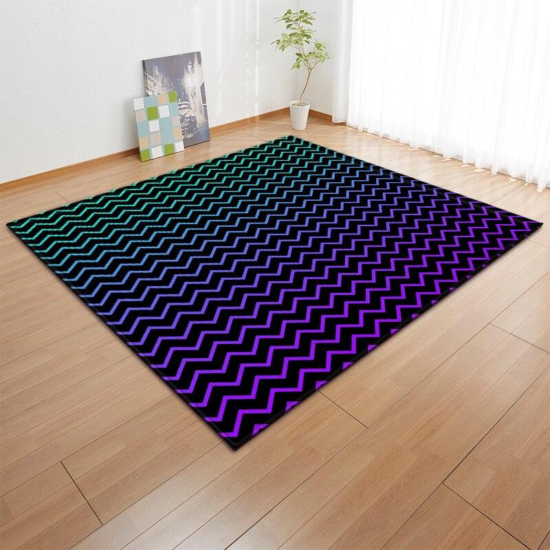 Enfants gris étoiles tapis nordique bébé zone tapis chambre salon canapé enfants tapis doux salon salle à manger tapete personnalisé - 6