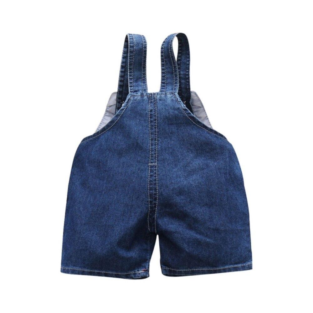 Одежда для маленьких девочек с героями мультфильмов короткие комбинезоны Для детей, на лето джинсы комбинезоны для новорожденных малышей д...