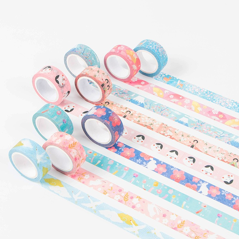 Kyoto Series Washi Tape DIY Decor Scrapbooking Sticker Masking Paper Decoration Tape Adhesive School Office Supplies