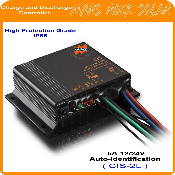 New 5A 12/24V Waterproof IP68 Solar Charge and Discharge Controller, Professional Street Light Charge ControllerNew 5A 12/24V Waterproof IP68 Solar Charge and Discharge Controller, Professional Street Light Charge Controller