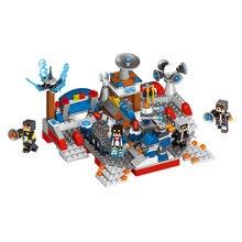 O meu Mundo Espaço Compatível LegoINGLYS Minecrafter Mover Blocos de Construção Educacional Para Crianças Brinquedo de Construção Inteligente 4 Pçs/lote