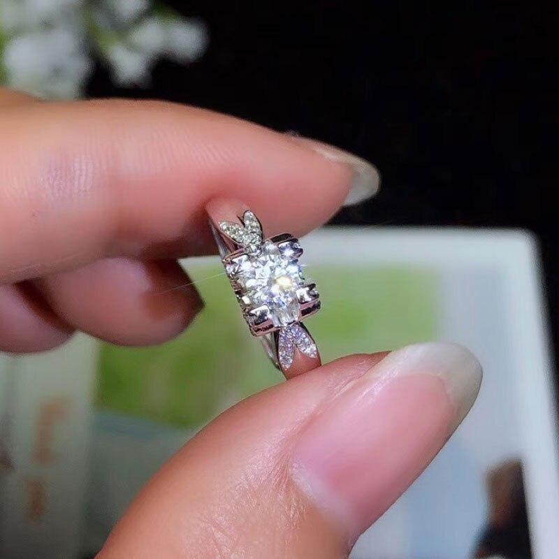 Colife jóias moda moissanite anel para mulher