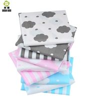 Shuanshuo Cloud Series Twill Cotton Fabric Patchwork Cloth Of Handmade DIY Quilting Sewing Textile Material BY Half Meter