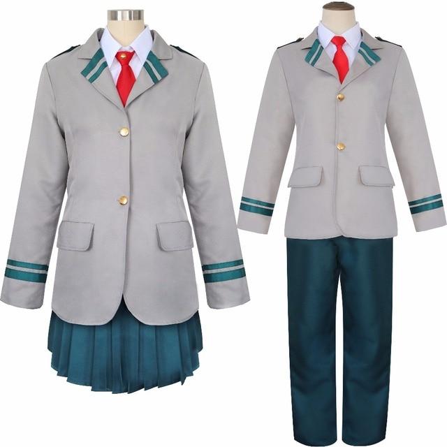 My Hero Academia Cosplay Kostüm Anime Boku hiçbir Kahraman Academia okul üniforması Ochaco Uraraka Midoriya Izuku Spor Takım Elbise Spor