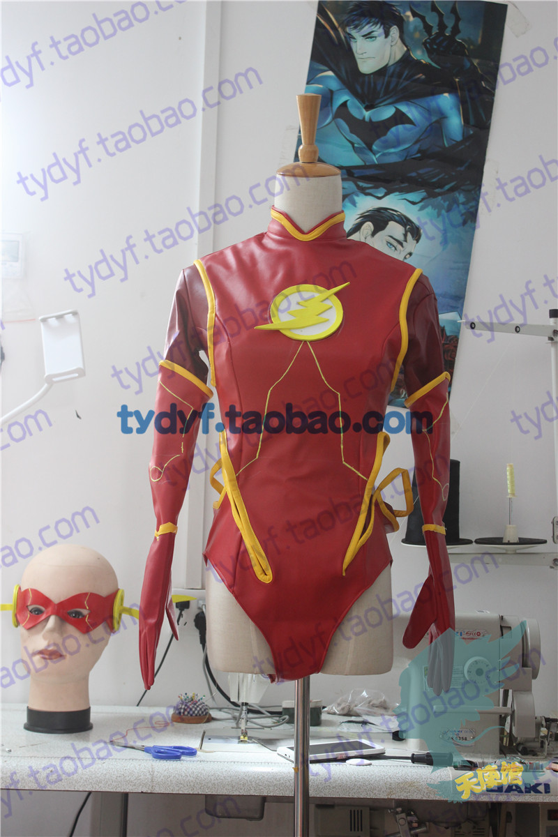 2016 The Flash Cosplay Costume Women's Costume The Flash Season 2 Barry Allen Costume Flash Superhero Cosplay Sex Reversion