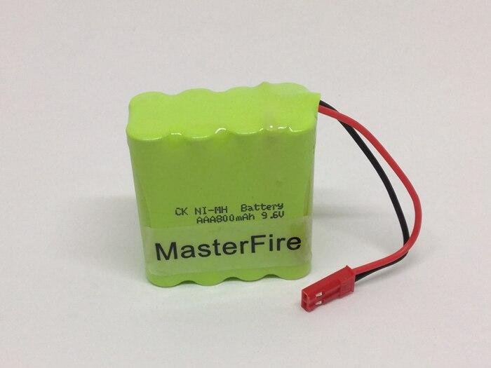 Atacado 100 pacote/lote MasterFire 9.6V AAA 800mAh NI-MH Bateria Recarregável NiMH Baterias Pack com o plug
