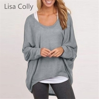 Lisa Colly Spring Autumn Women Sweater Tops Solid O Neck Long Sleeve Knitted Pullovers Sweaters 9