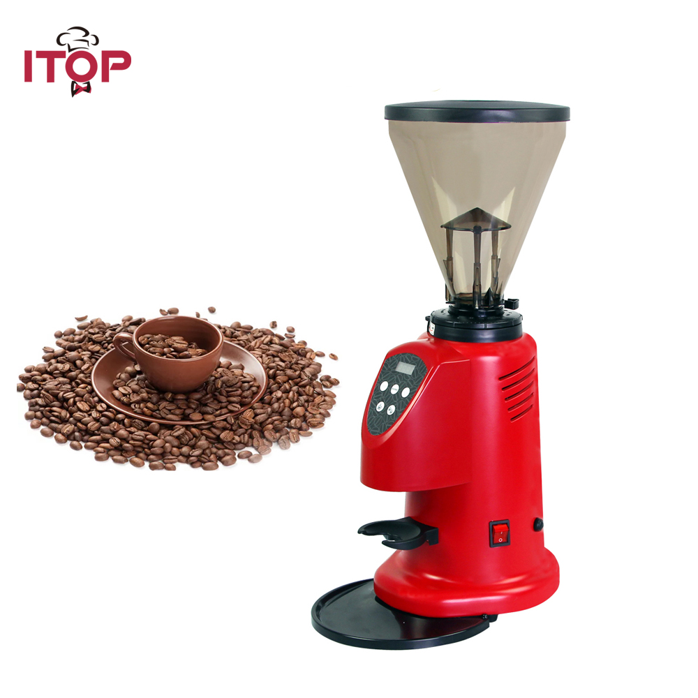 ITOP Commercial Office Electric Coffee Grinder Machine coffee millling grinder Home Coffee Bean Grinder Makers 220V 110V itop 110v 220v commercial coffee grinder electric coffee bean grinder electric roasted grain beans grinding machine