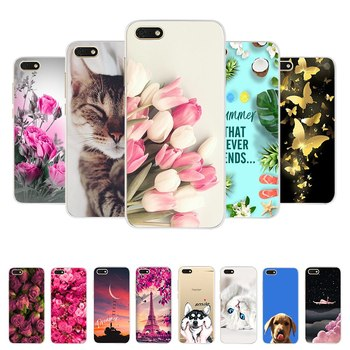 For Huawei Y5 2018 Case For Huawei Y5 Lite 2018 y 5 Prime 2018 Case Soft Silicone Cover Cute Cartoon TPU Phone Case Fundas Coque image