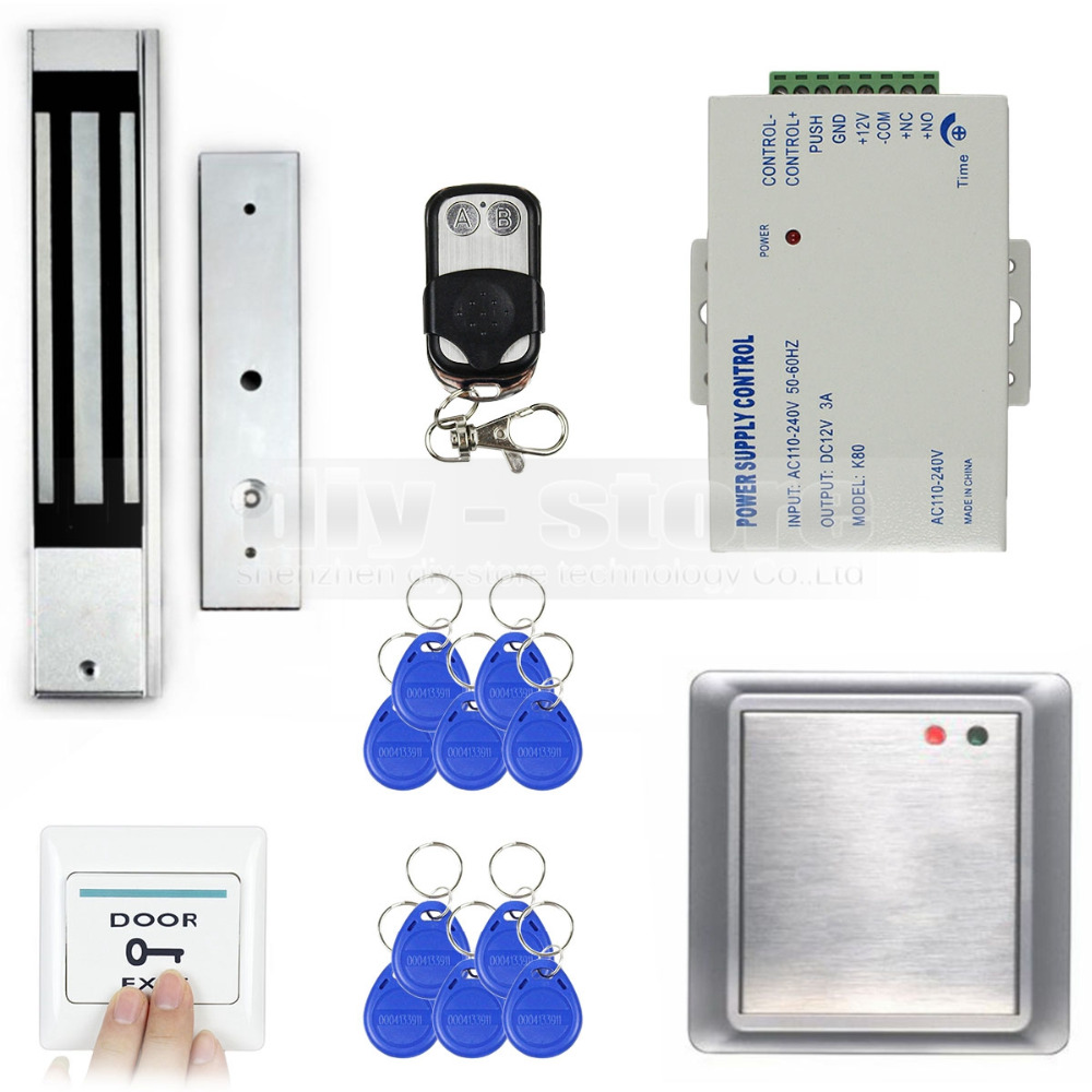 DIYSECUR RFID Keyboard Access Control Kit Set + 280KG Magnetic Lock for House / Office Brand New diysecur magnetic lock door lock 125khz rfid password keypad access control system security kit for home office